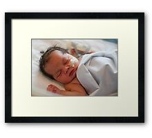 My New Granddaughter Born 27th Sept  Framed Print