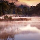 Early morning mist burning off Loch Ard by David Mould