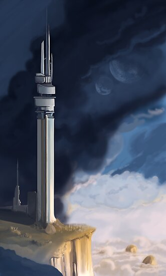 Tower, with smoke and light by Chris-Garrett