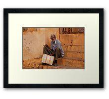 Cuban man Framed Print