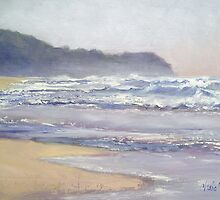 Sunrise Beach Sunshine Coast Queensland Oil painting by Chris Hobel
