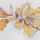 Oak Leaves by Geraldine M Leahy