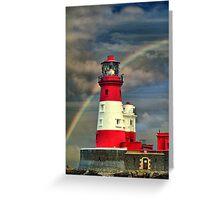 Rainbow Shining Through Lighthouse ~ Farne Islands Greeting Card