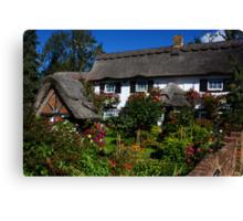 In an english country garden....... Canvas Print