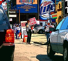 e-z out parking, chicago cubs by brian gregory