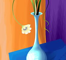 Beauty of the budding flower in a flower vase by tillydesign