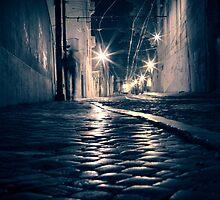 Lisbon by night by Laurent Hunziker