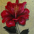 Red Hibiscus by Cherie Roe Dirksen