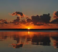 Tuggerah Lake Sunrise,30-9-2010.Australia. by Warren  Patten