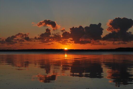 Tuggerah Lake Sunrise,30-9-2010.Australia. by Warren  Patten