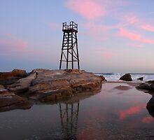 Dusk -  Red Head Beach Newcastle - NSW by David J Baster