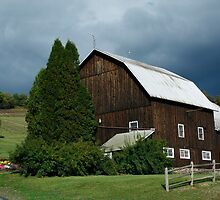 Storm Clouds Break Open Over Old Barn by marilynwood