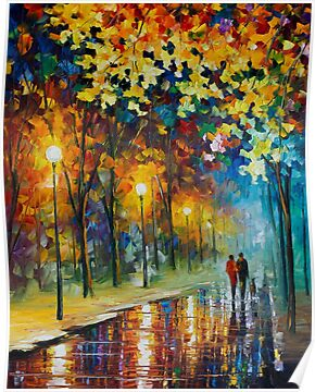 THE WARMTH OF FRIENDS - ORIGINAL ART OIL PAINTING ON CANVAS BY LEONID AFREMOV by Leonid  Afremov