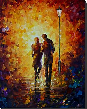 Come Together - Original Art Oil Painting On Canvas By Leonid Afremov by Leonid  Afremov