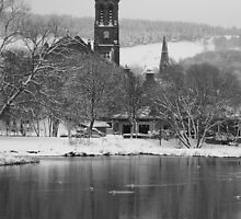 Peebles Winter by Steve Falla