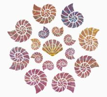 Sea Shell Patterned T-Shirt by simpsonvisuals