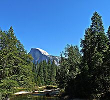 Half Dome From Bridge by Stella Day