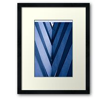 Abstract Architecture in Blue II Framed Print