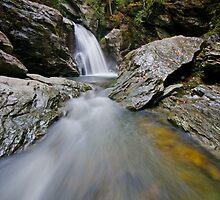 Bingham Falls - Midstream - Wide by Stephen Beattie