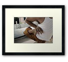 Fingers and toes Framed Print