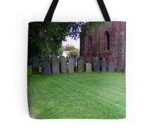 Sheltered grave stones Tote Bag