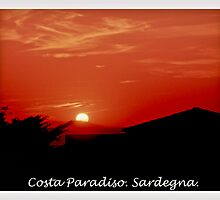Costa Paradiso sunset. Sardinia.Italy.Brown Sugar 2003. by © Andrzej Goszcz,M.D. Ph.D