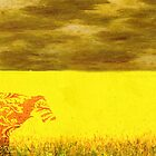Cow in a yellow field... by Monjii
