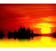 Golden Sunball Photographic Print