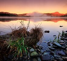 Loch Ard,  sunrise on Ben Lomond by David Mould