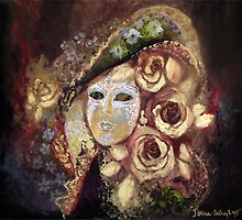 Mask with roses by dorina costras