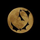 Bats and the full moon by Elenne Boothe