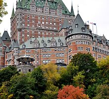 Chateau Frontenac from the Lower city by Marie Martelli