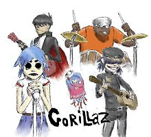 Gorillaz by Redustheriotact