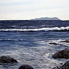 Pic Island in the Distance - Lake Superior - Marathon Ontario Canada by loralea
