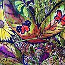 Butterflies and Flora 2 by Angela Gannicott