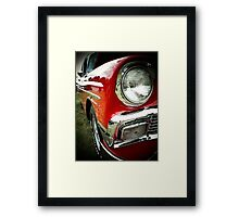 1956 chevy bel-air..full out fast junkie Framed Print