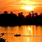 Sunset over the River Nile by GBR309