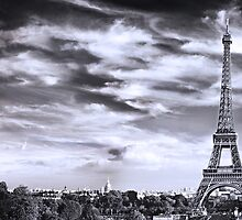 eiffel tower by ludovic rhodes