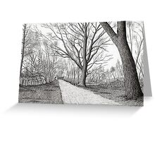 GOLDEN FROSTY TREES Greeting Card