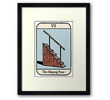 The Sloping Stair Framed Print