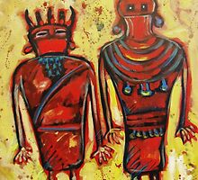 Fremont People Modern Primitive Painting by carolsuzanne