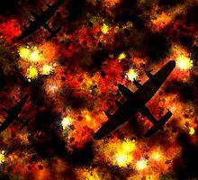 Night Raid - Lancaster Bomber by Michael Tompsett
