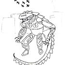 Mecha Lizard!!! by justin herman