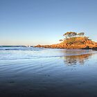 Sunset on Pebbly Beach by Keiran Lusk