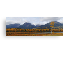 Autumn in the mountains (panoramic) Canvas Print