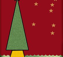 Christmas Tree Outlined by Helen Martikainen