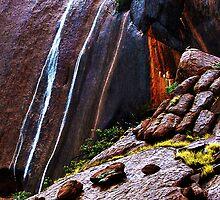 Waterfalls at Uluru by Julia Harwood