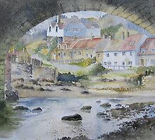 Sandsend under the Arches, Whitby by artbyrachel
