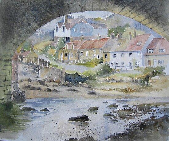 Sandsend under the Arches, Whitby by artbyrachel