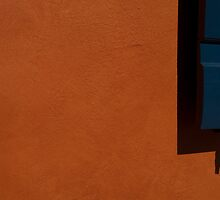 BLUE ON ORANGE by June Ferrol